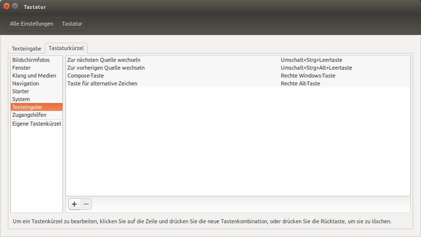 Compose-Key festlegen unter Ubuntu/Unity