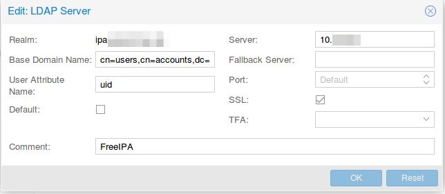 Virtualisierter Server - Authentifizierung gegen FreeIPA für Proxmox ...